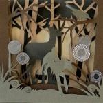 Deer. Paper Owl Town by British artist Helen Musselwhite