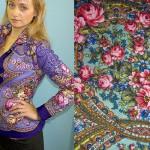 A blouse of Pavlovsky Posad Shawls