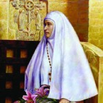 Portrait of abbess Martha and Mary Convent of Mercy. Painting by Russian artist Irina Gayduk
