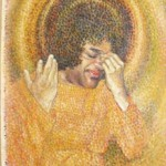 Sai Baba. 2000. Oil, canvas. Esoteric mysticism in painting by Russian artist Sergey Puzanov