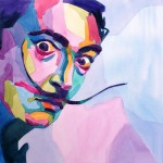 Dali. Watercolor portrait by Russian artist by Tatyana Abramova