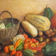 Still life with vegetables. 1998. Oil, canvas
