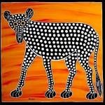 Lonely hyena
