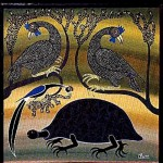 Peacocks and tortoise