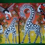 Black and white giraffes