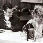 In a cafe. Serial scene