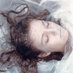 Dead, wrapped in plastic. Thrilling photo of Laura Palmer