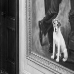 The dog depicted in the painting. Uggie