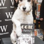 The dog with his autobiography book