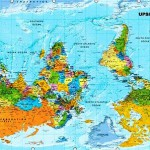 """""""Upside-down"""" map where the north is at the bottom"""