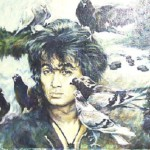Portrait of Viktor Tsoi (Waiting for the film show). 2004 canvas / oil