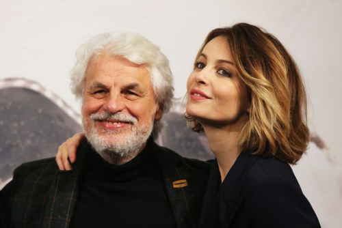 Violante Placido and her father Placido