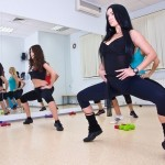 Doing exercises Vlada Evstifeeva