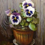 Viola flowers. Beautiful Painting by Andrei Andrianov