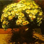 Bouquet of some yellow flowers. Painting by Andrei Andrianov