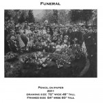Funeral. Pencil drawing by American artist Chris LaPorte