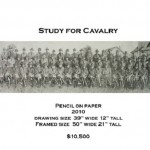 Study for cavalry. Realistic pencil drawing by American artist Chris LaPorte