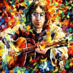 John Lennon playing the guitar