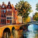 Bridge in European city