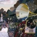 Old gramophone. Russian artist Marina Printseva