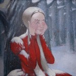 I don't see. Winter tenderness in painting by Russian artist Natalia Syuzeva