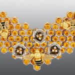 bracelet, Diamonds, citrine, Enamel, Gold 585