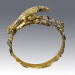 bracelet. Stones Diamonds, emerald. Material Gold