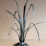 Grass, 2010 metal composition by Russian artist sculptor Sergey Malyugin