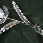 Iron poppy, metal composition by Russian artist, sculptor Sergey Malyugin