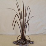 Little island metal composition by Russian artist, sculptor Sergey Malyugin