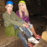 "Olga Oleinik (right), and her ""soul sister"" Valeriya Lukyanova (left)"
