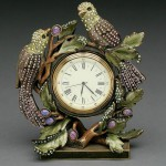 Home luxury - clocks with figurines of birds