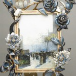 Frame decorated with roses