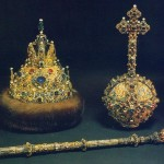Gold treasures decorated with Russian enamel