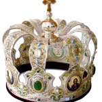 A crown made in the technique of Russian enamel