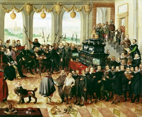 The presentation of the Pommersche Kunstkammer to Duke Philip II of Pomerania