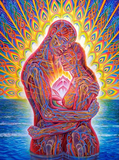 The anatomy of love by Alex Grey