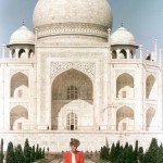 "Princess Diana sat in wistful solitude at the Taj Mahal - the world's most famous monument to a lost love. It was, she said, 'fantastic'. Then she added, mysteriously: ""It is a very healing place."" photo of 1992."