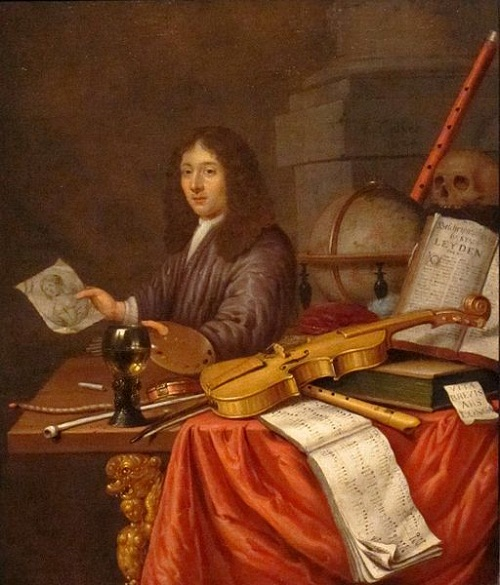 Evert Collier's Self-Portrait with a Vanitas Still-life