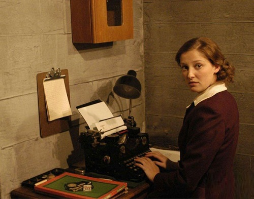 29. Working in a  bunker Gertraud 'Traudl' Junge (16 March 1920 – 10 February 2002), Adolf Hitler's youngest personal private secretary, from December 1942 to April 1945.