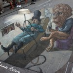 Creative optical illusions in 3D graffiti by Argentinian artist Eduardo Relero