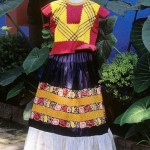 Frida Kahlo's Dresses are on display at the Frida Kahlo museum, formerly known as the Blue House