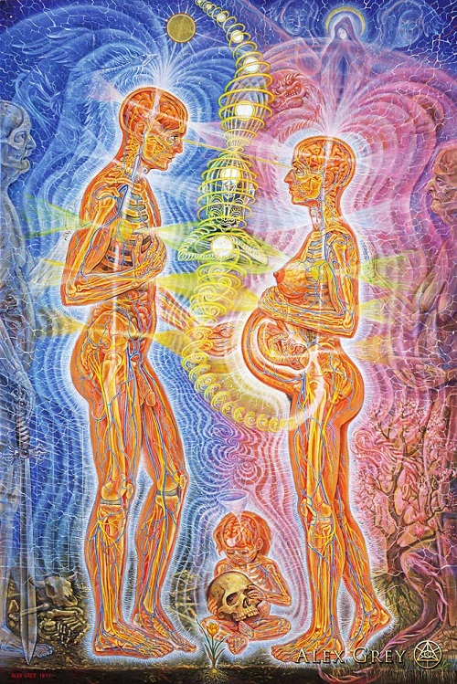 Promise. Painting by American artist Alex Grey