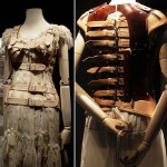 she was forced to always wear a corset, long skirts to hide her deformed body