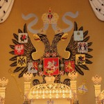 Behind the throne – Russian Empire coat of Arms