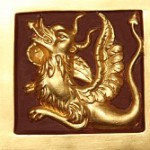 Gilded carving – Double-headed eagle and dragon, carving details