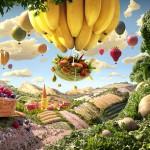 Cart and Banana Balloon