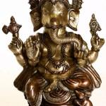 Ekadanta Ganesha. Brass Sculpture