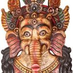 Wood Sculpture Ganesha Mask