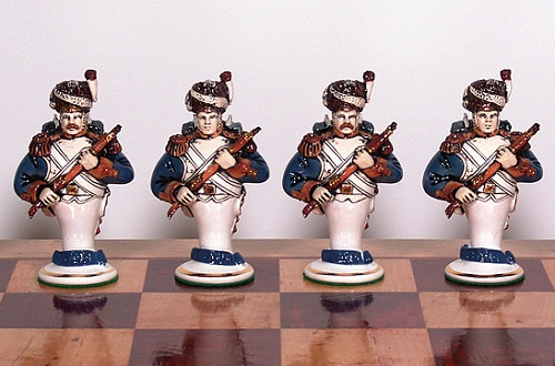 Chess set 'Borodino', 1991